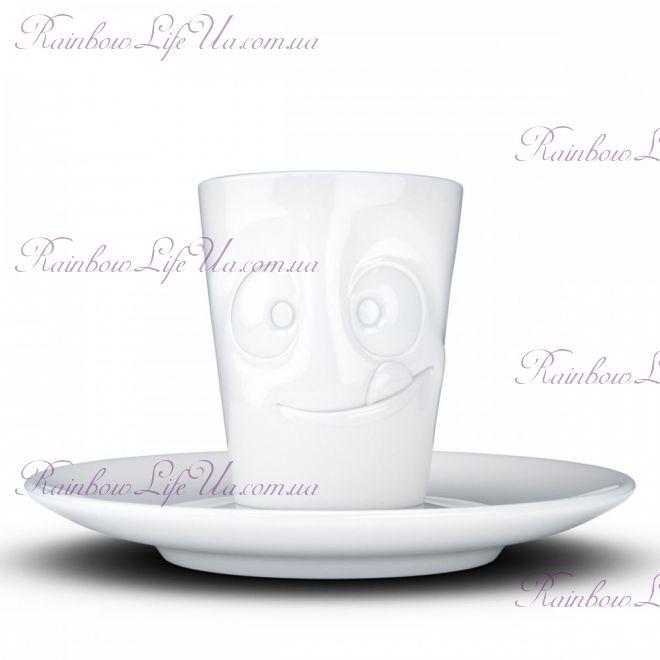 "Чашка с блюдцем Espresso Tassen ""Вкуснятина"" 80 мл"