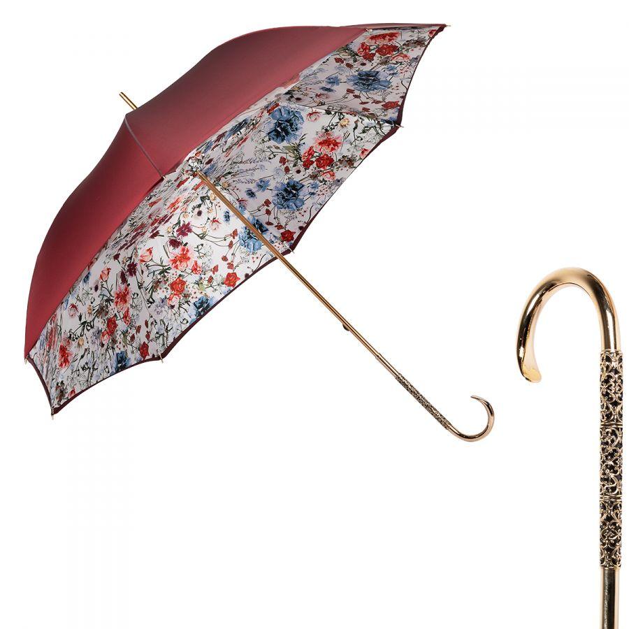 Зонт-трость Pasotti Bordo Viona Oro Dentell