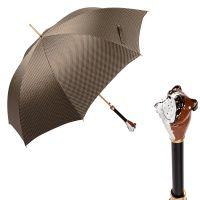 Зонт-трость Pasotti Bulldog Pepita Beige