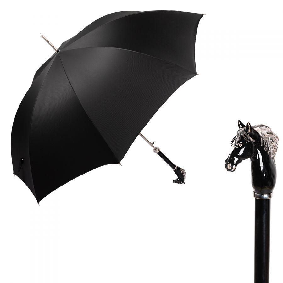 Зонт-трость Pasotti Cavallo Oxford Black