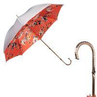Зонт-трость Pasotti Grigio Ticolori Coral Oro