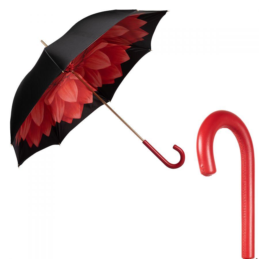 Зонт-трость Pasotti Nero Georgin Rosso Original