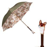 Зонт-трость Pasotti Oliva Pittura Volpe Lux