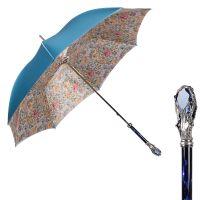 Зонт-трость Pasotti Roselline Swarovski Blu Fiore