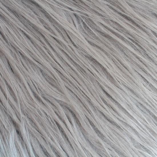 Длинноворсовый мех Серый, прямой ворс 50х40 УЦЕНКА