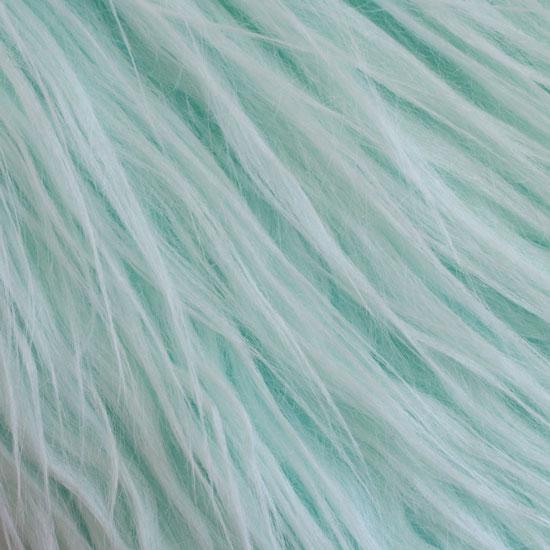 Длинноворсовый мех Мятный, прямой ворс 50х40 УЦЕНКА