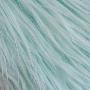 Длинноворсовый мех Мятный, прямой ворс 50х40