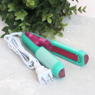 Инструменты для куклоделия - Утюжок для волос, плойка зеленая