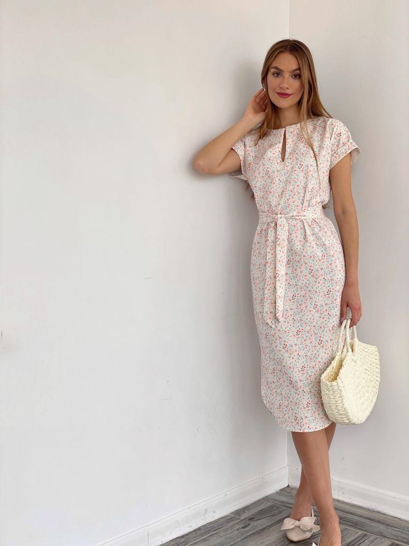 4063 Платье с милым принтом