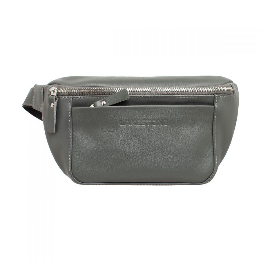 Женская кожаная поясная сумка Lakestone Lee Grey