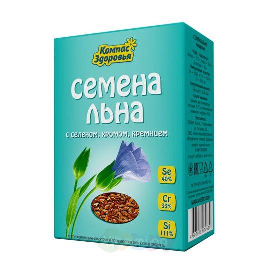 Семена льна с селеном, хромом
