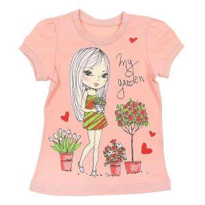 Л476 Блузка для девочки персикового цвета Basia