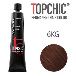 Goldwell Topchic 6KG - Стойкая краска для волос - Медный золотистый темный русый 60 мл.