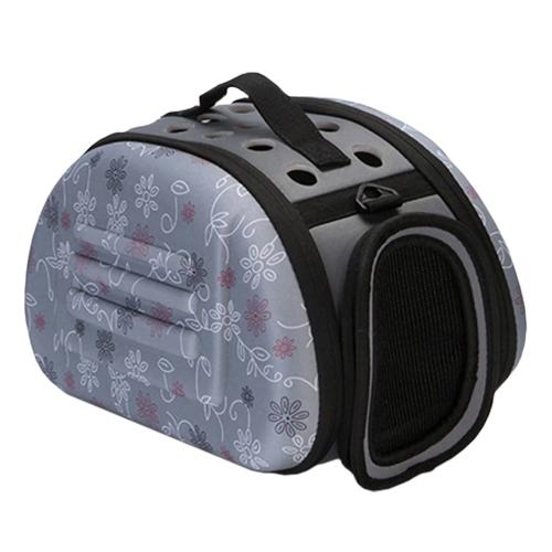 Складная сумка-переноска для животных до 6 кг. Цвет: серый.