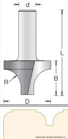 Фреза врезная радиусная DIMAR 19.1x12.7x51x12 R6.3 1170019