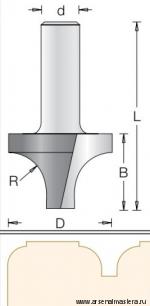 Фреза радиусная V врезная R12,7 D34,9 x 25,4 L63,5 хвостовик 12 DIMAR 1170109