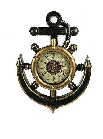 Якорь Часы настенные, стилизованные под старину