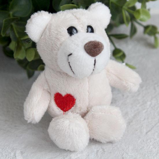 Игрушка для куклы Nici,  медвежонок молочный с сердечком