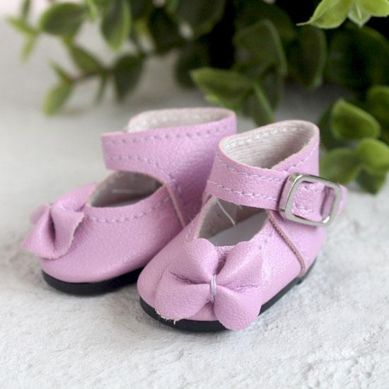Обувь для кукол - Сандалии высокие с бантиком сиреневые, 4 см.
