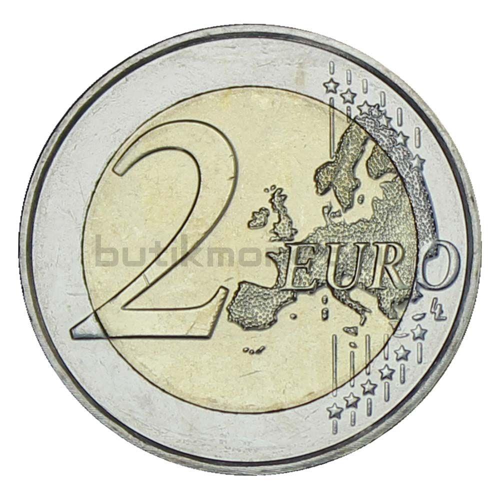 2 евро 2021 Люксембург 100 лет со дня рождения Великого Герцога Жана (Рельеф)