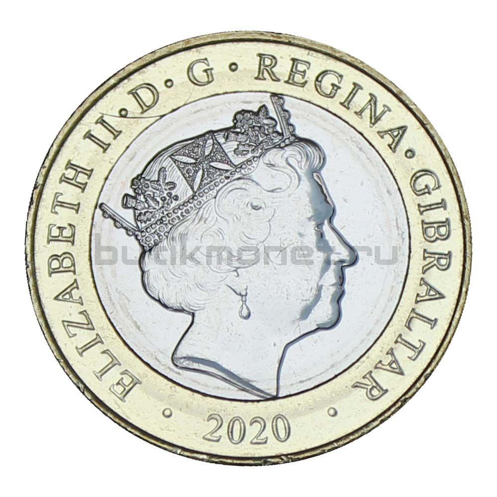 2 фунта 2020 Гибралтар Рождество