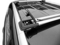 Багажник на рейлинги Renault Duster 2021-..., Lux Hunter, серебристый, крыловидные аэродуги
