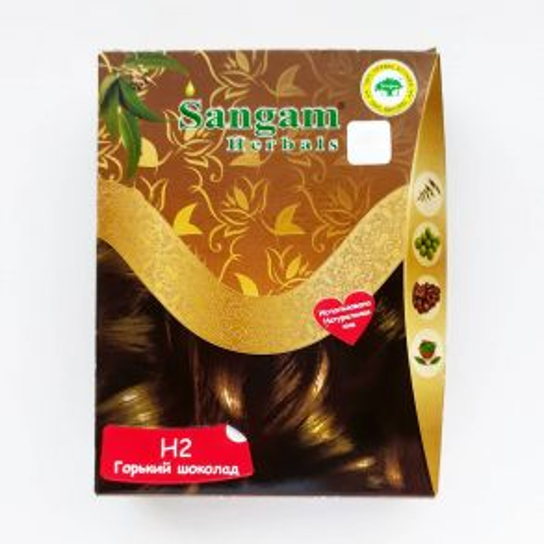 Краска для волос на основе хны | Горький шоколад | 60 г | Sangam Herbals