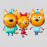 Три кота, 3 ФИГУРЫ С ГЕЛИЕМ