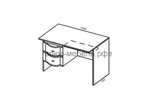 Детская Мозаика (пенал ПН+кровать КЯ+шкаф навесной ШН-2+пенал ПН+шкаф угловой ШУГ+угол заверш УГ+стол СТ-1+шкаф навесной ШН-1)