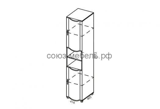 Детская Мозаика (кровать КР+шкаф навесной ШН-1, стол СТ-1,5+шкаф нвесной ШН-1,5+шкаф ШУ)