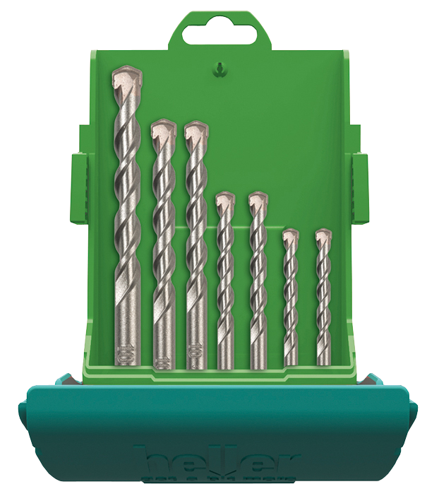 Набор свёрл Heller по бетону ProConcrete 4, 5, 6, 8, 10, 12 мм (6 пр.)