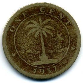 Либерия 1 цент 1937
