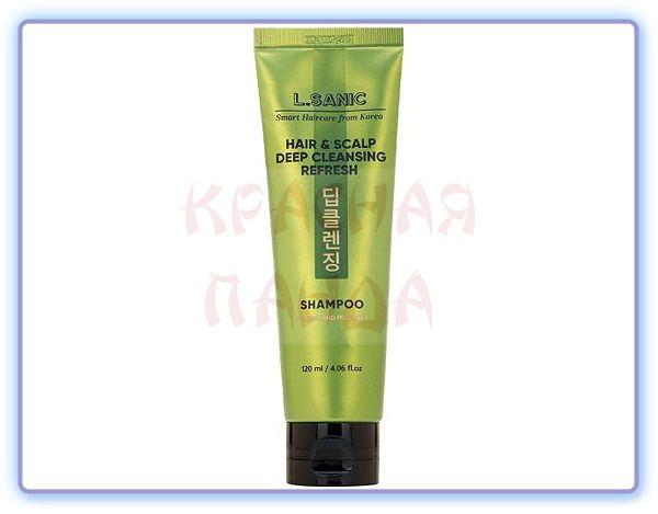 Шампунь для глубокого очищения волос и кожи головы L.Sanic Hair & Scalp Deep Cleansing Refresh Shampoo