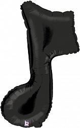 ар (35''/89 см) Фигура, Нота, Черный, 1 шт.