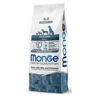 Сухой корм для собак Monge Monoprotein форель с рисом и картофелем 12 кг