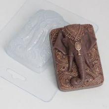 Пластиковая форма для мыла и шоколада Слон индийский