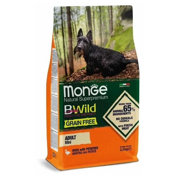 Сухой корм для собак мелких пород BWILD Feed the Instinct беззерновой с уткой и картофелем 2.5 кг