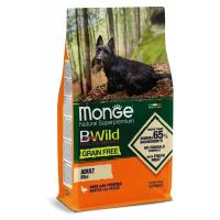 Сухой корм для собак мелких пород Monge BWILD Feed the Instinct беззерновой с уткой и картофелем 2.5 кг