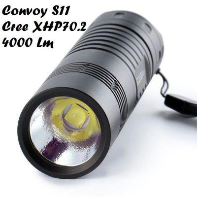 Фонарь Convoy S11 CREE XHP70.2, ≈4000 Лм, 26650, чёрный (3 оттенка света)