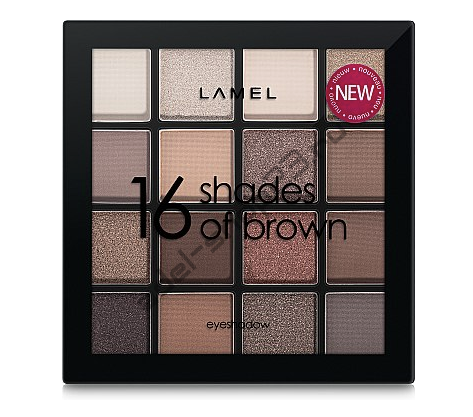 Lamel - тени для век Professional Eyeshadow 16 Shades Of Brown