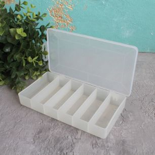 Контейнер-органайзер для хранения фурнитуры, 18 х 10 х 3 см.