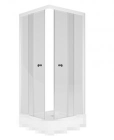Душевой уголок MELODIA Square 90x90 без поддона, прозрачное стекло