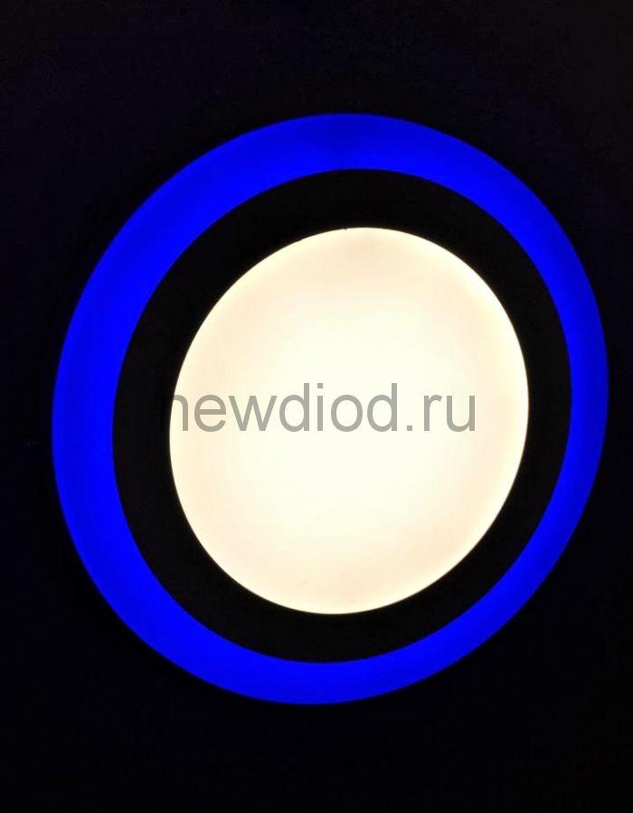 Светильник накладной Sirius 3W+3W-2м² 75/105mm синий КРУГ Oreol (100/кор)