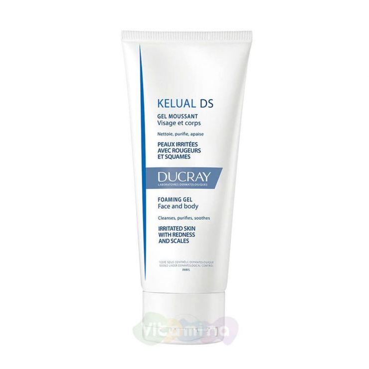 Ducray Kelual DS гель смягчающий пенящийся для снижения раздражения кожи, 200 мл