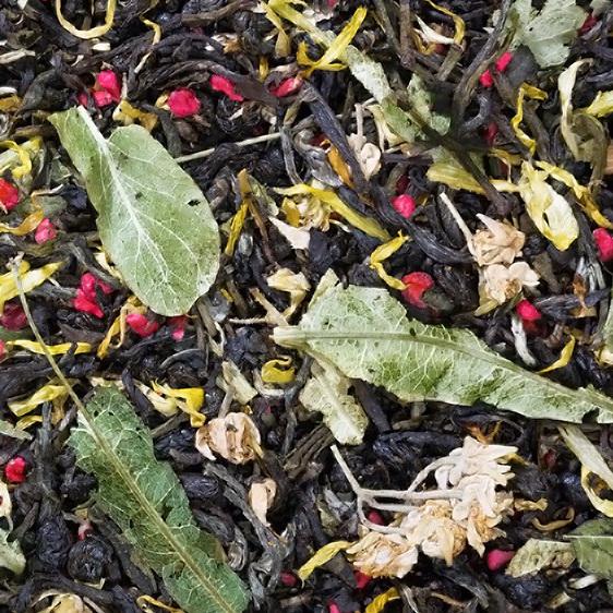 С легким паром  - зеленый чай с природными добавками.