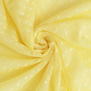 Мягкий фатин (еврофатин) в горошек - Желтый