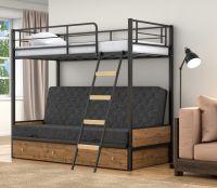 Кровать двухъярусная диван Дакар 2 Лофт с ящиками