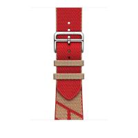 Ремешок Apple Watch Hermès Kraft/Rouge de Cœur Jumping Single Tour из кожи (для корпуса 44 мм)