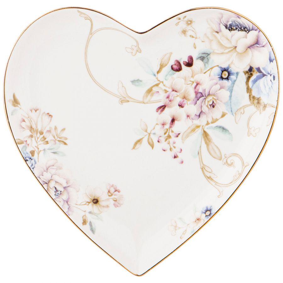 """Тарелка - сердце """"Завтрак у короля"""" 15x2 см"""