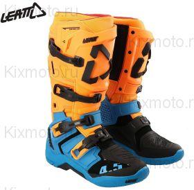 Мотоботы Leatt 4.5 S21, Оранжево-голубые